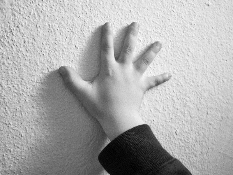 ausgestreckte Kinderhand