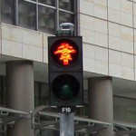 rote Ampelfrau