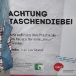 """Plakat zur Aktion """"Tüten-Tausch-Tag"""""""