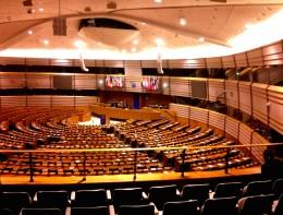 Plenarsaal im Parlament der EU in Brüssel
