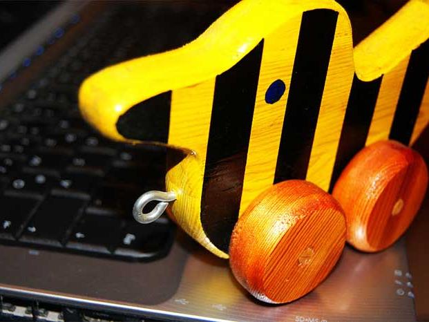 Tigerente und Tastatur