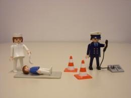 Playmobilfiguren: Polizist und Krankenschwester