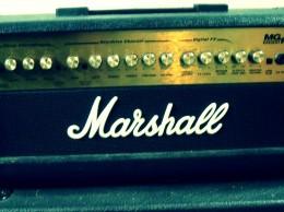 ein Verstärker von der Marke Marshall