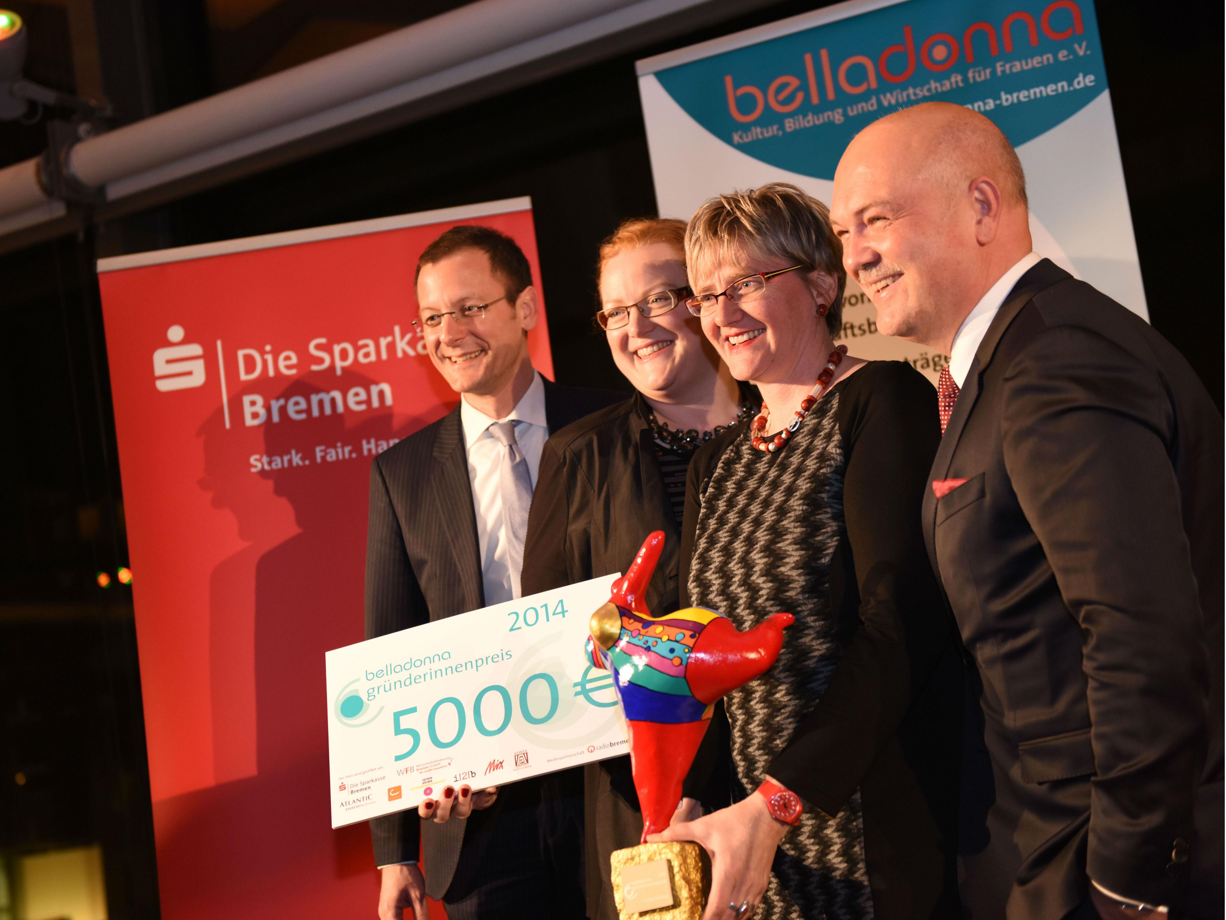 Verleihung des Gründerinnenpreises von belladonna