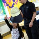 Katrin Halang mit Schülerin, Schule in der Vahr