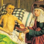 Gemälde mit St. Agnes bei einem Kranken (Ausschnitt)