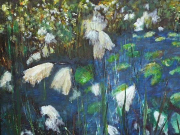 Malerei in Blautönen