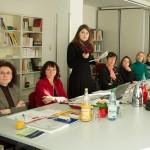 Frauen auf einem Meeting