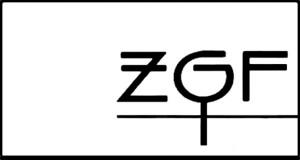 Logo schw/weiß mit den Buchstaben ZGF