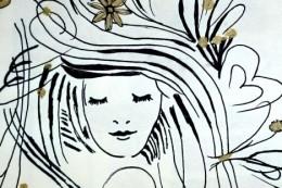 Zeichnung Frauenkopf