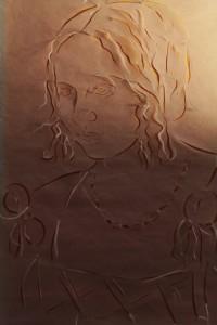 """Es ist das Frauenporträt """"Bildnis einer jungen Venezianerin"""" frei nach Albrecht Dürrer zu sehen."""