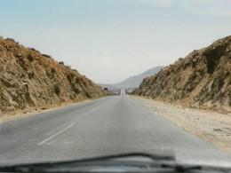 Straße in der Wüste