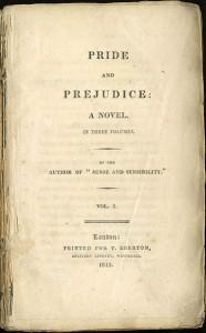 Titelseite der ersten Ausgabe von Pride and Prejudice