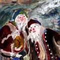 Gemälde zweier Trolle mit Rauschebart