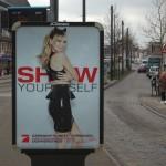 Schönheitsideal Werbeplakat Klum