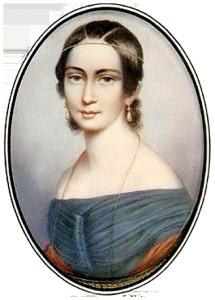 Bild von Clara Schumann, das auch auf dem 100 Mark Schein erscheint