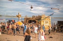 Musik Festival See, tanzende menschen