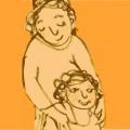 Zeichnung Mutter und Kind