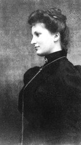 Seitliches Portrait von Alma Mahler-Werfel