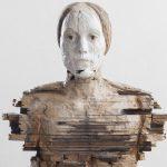 Holz-Büste einer Frau