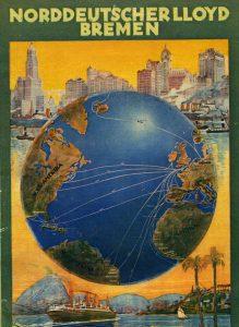 Die Schiffe der Reederei Norddeutscher Lloyd fahren um die Welt