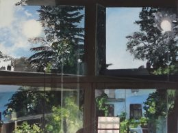 Das Gemälde Große Spiegelung Nr. 6 von Beate Kortkamp