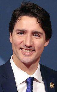 Portrait von Justin Trudeau, dem kanadischen Premierminister
