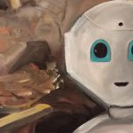 Leben 4.0 Roboterkopf