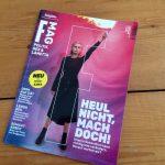 Cover des ersten F Mag mit Frau drauf