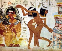 Tänzerinnen, ägyptische Wandmalerei