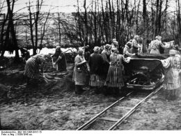lesbische Frauen in Ravensbrück, Frauen arbeiten in Häftlingskleidung