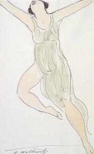 gemaltes Frauenbild