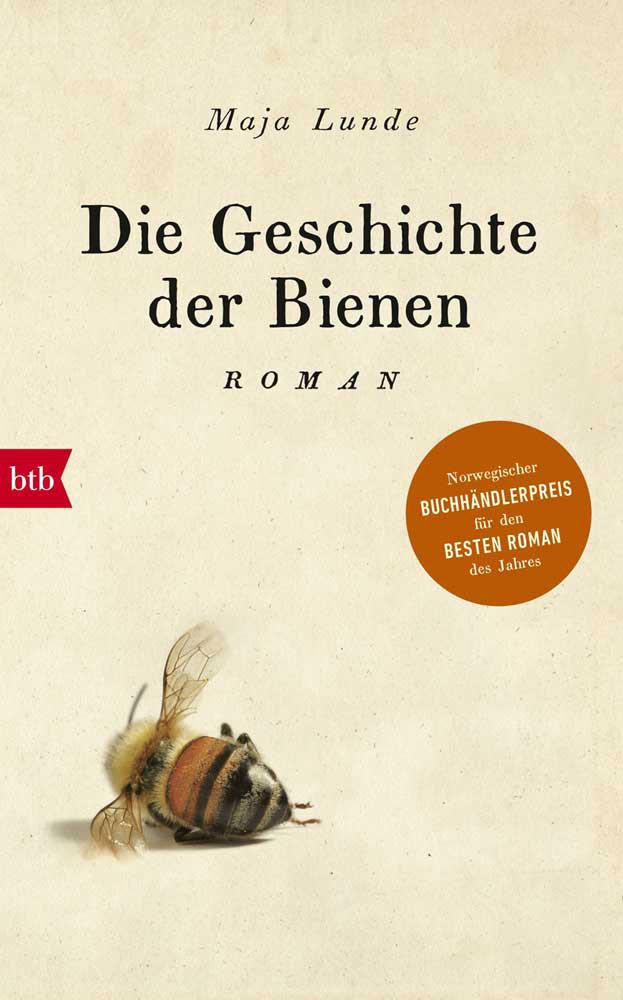 Geschichte der Bienen, Buchcover mit einer großen Biene
