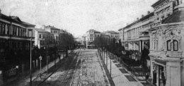 Straßenzug in Bremen schwarz-weiss
