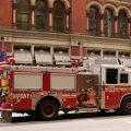 Feuerwehrauto mit Amerikanischer Fahne
