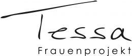 """Dieses Bild ist ein Logo.In schwarzer Schrift steht auf weißem Hintergrund """"Tessa"""" geschrieben. Darunter steht in kleiner Schrift """"Frauenprojekt"""""""