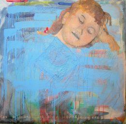 Melissa Chelmis, Gemälde eines schlafenden jungen Mädchens