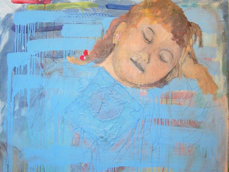 Gemälde eines schlafenden jungen Mädchens