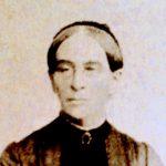 Portrait einer Frau mit strenger Frisur in schw/weiß