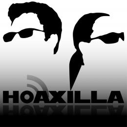 Schwarz-Weiß-Logo von Hoaxilla