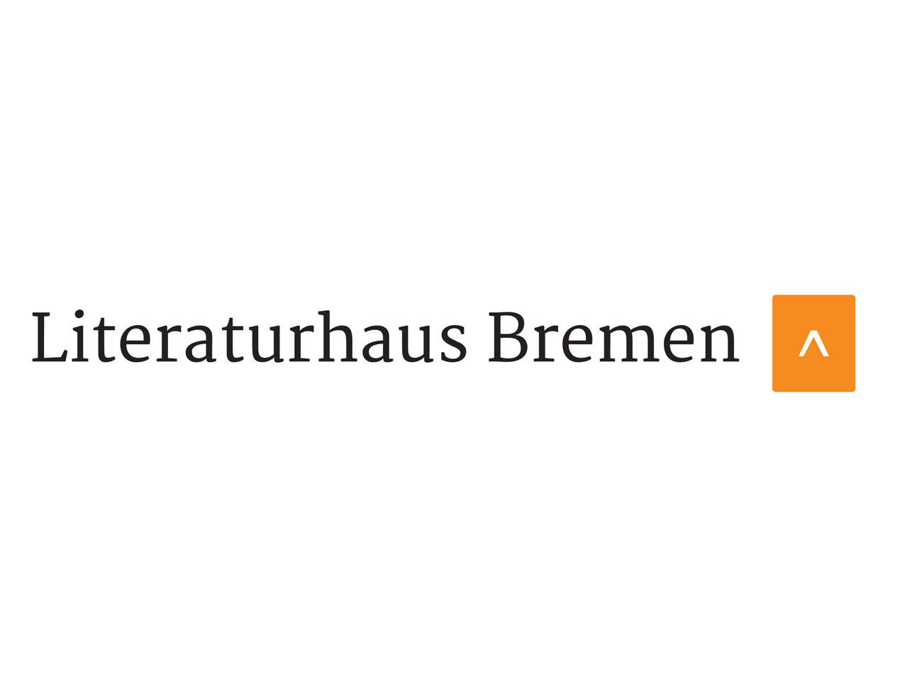 Schwarzer Schriftzug auf weißem Papier mit der Aufschrift: Literaturhaus Bremen