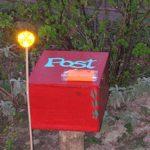 Leuchte, roter Kasten