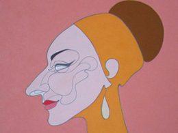Abstraktes Portrait von Maria Callas
