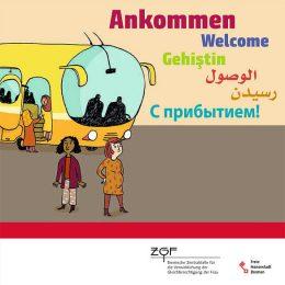 Titelseite der Infobroschüre für geflüchtete Frauen der ZGF