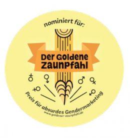 Logo der goldener Zaunpfahl