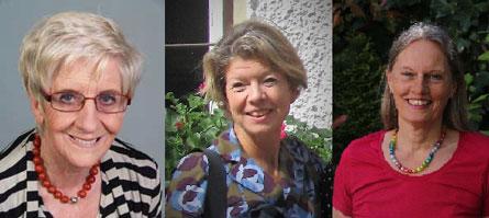 Drei lächelnde Frauen aus dem Interview des Arbeitskreis Frauengesundheit in Medizin, Psychotherapie und Gesellschaft e.V. (AKF)