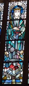 Kirchenfenster, das Emma von Lesum zeigt
