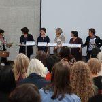 Landesfrauenbeauftragte Bettina Wilhelm mit Bremer Politikerinnen