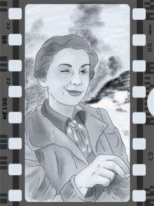 Portrait der Fotografin Gerda Tarot in Grautönen