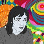 Portraitzeichnung von der Künstlerin Niki de Saint Phalle